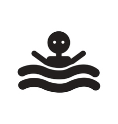 Flat icon in black and white style man swimmer vector