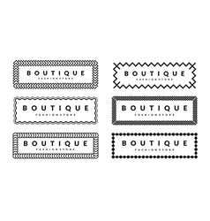 Beautiful Creative Borders Design Template Set For vector image