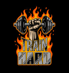 bodybuilding motivation poster vector image vector image