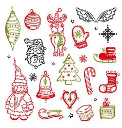 Christmas moose tree vector image