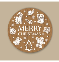 Christmas woody background vector