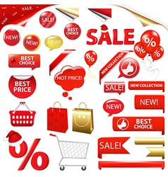 Collection Of Selling Badges vector image
