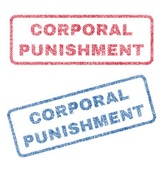 Corporal punishment textile stamps vector