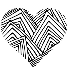 Doodle heart shaped 3 vector