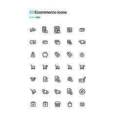 e-commerce icons vector image vector image