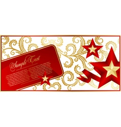 Elegant red background with star vector image