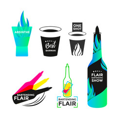 flair bartending icon vector image