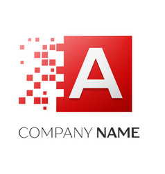 letter a logo symbol in the colorful square with vector image vector image