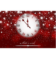 New year and christmas concept with vintage clock vector