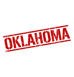 Oklahoma red square stamp vector