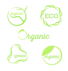 organic green signs vector image