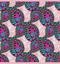 pink paisley ornate seamless pattern seamless vector image
