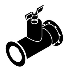 Pipe tap icon simple black style vector