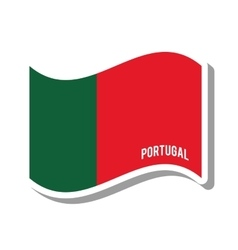 Portugal patriotic flag isolated icon vector
