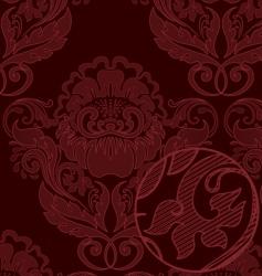 rococo background vector image vector image