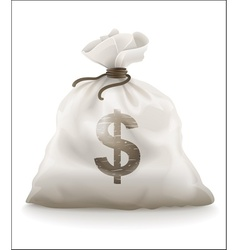 sack with money vector image vector image