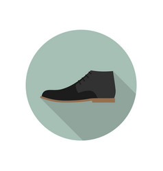shoe flat icon vector image