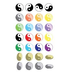 yin yang symbols vector image