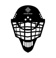 Hockey helmet icon vector