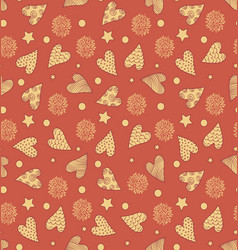 Valentines cute pattern vector