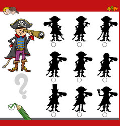 Finding shadow game with pirate vector