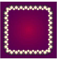 Casino or holidays lights frame vector