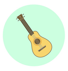 flat ukulele small hawaiian guitar vector image