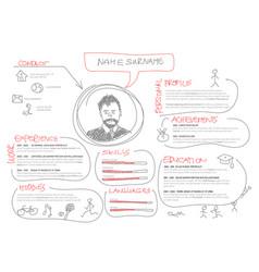 Original cv resume template vector