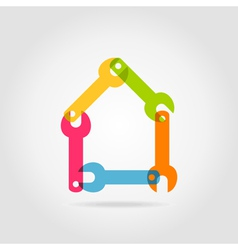 House a wrench vector image