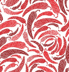 Red hot chilly peppers seamless pattern mexican vector