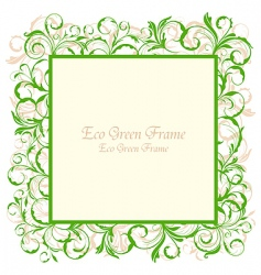 eco green frame vector image