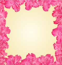 Seamless texture frame of rhododendron vector image