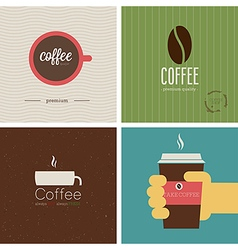 Coffe shop set vector
