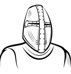 Helmet of the medieval knight vector