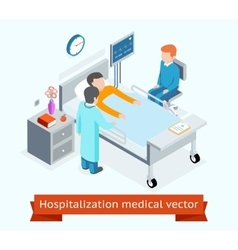 Hospitalization medical 3d isometric vector