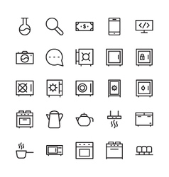 Hotel Outline Icons 11 vector image