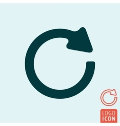Rotation icon isolated vector