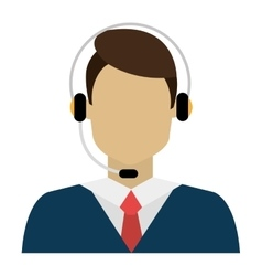 Man avatar and headphones graphic vector