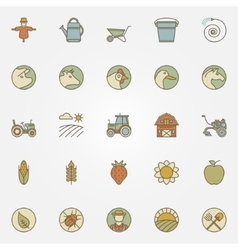 Agriculture icons collection vector image vector image