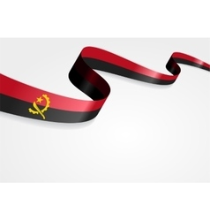 Angolan flag background vector image vector image