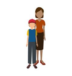 Avatar woman and a boy vector