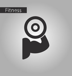 Black and white style icon logo bicep vector