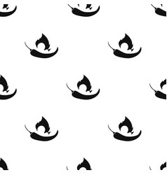 Chili pepper icon in black style isolated on white vector