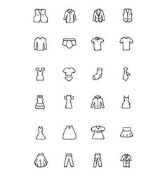 Clothes hand drawn doodle icons 2 vector