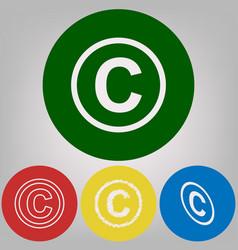 Copyright sign 4 white vector