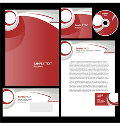 Corporate identity template design abstract arrow vector