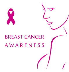 empowering women to fight breast cancer vector image