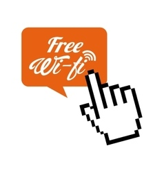 Free wifi design vector