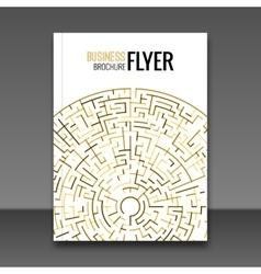 Gold Flyer design template Greeting Card Design vector image