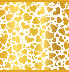 golden hearts seamless pattern design vector image vector image